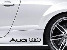 AUDI Rings Car Aufkleber Sticker  Schwelle TT RS S A3 A4 A5 A6 A8 Q5 Q7 Audi