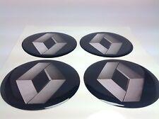 RENAULT 4 x 60mm Silikon Emblem Felgen Aufkleber Logo Nabendeckel Nabenkappen