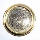 """Antique Compass Vintage Brass Bronze Nautical 3"""" Inch Wooden Box Steampunk Retro"""