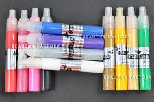 12 Color x 3D Nail Art Fine Tip Drawing Paint Pen Glitters Design 254