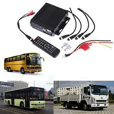 4CH Channel AHD Car Bus Truck Mobile DVR SD GPS Realtime Video Recorder w/Remote
