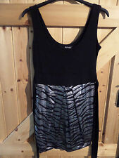 "Lovely Jane Norman Black With Silver Shimmer Dress Chest 34"" Approx Size 10"