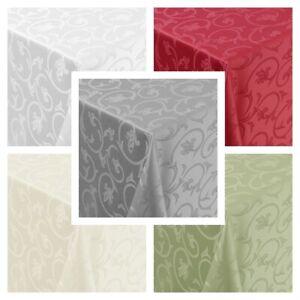 Tischdecke Barock Ranken Moderno, Eckig Oval Rund, Größe und Farbe wählbar