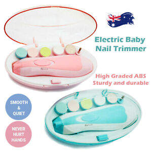 Electric Baby Nail Trimmer Infant Newborn Safe Grinder Clipper Tools Set NEW