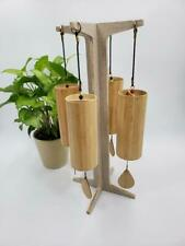 Divine Wooden Chimes 4 Set includes Earth Air Water and Fire WITH STAND