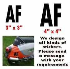 """Lambretta Stickers AF Sticker RB TS1 GP SX TV LI AF Letter Stickers 3"""" x 3"""""""