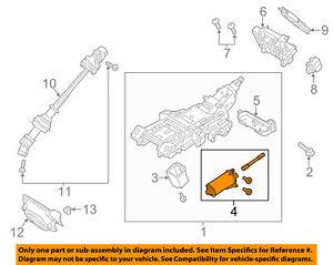 FORD OEM Steering Column-Adjuster Motor 9A5Z3F840A
