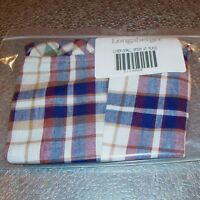 Longaberger Woven Traditions Plaid SMALL SPOON Basket Liner ~ Brand New in Bag!
