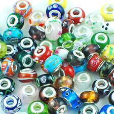 Glass Lampwork Bulk Lot 30 Mix Beads Fit Charm Bracelet
