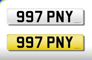 997 PNY CHERISHED NUMBER PERSONAL PLATE
