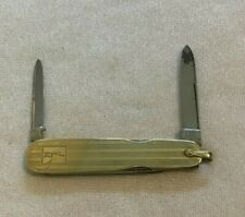 14K Gold Vintage 1XL George Wostenholm Sheffield Folding Knife