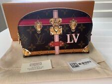Authentic Louis Vuitton Monogram LE Trunk Trunks Cosmetic Makeup Bag Case NEW