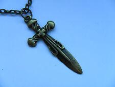 Precioso collar cadena de bronce Espada