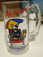 Vintage 1987  Spuds MacKenzie Party Animal Bud Light Glass Beer Mug