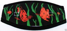 Neoprene Mask Strap Scuba Diving equipment Snorkeling GIFT Fun diver orange fish