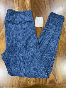Lularoe TC Tall Curvy Leggings blue print  new print NWT