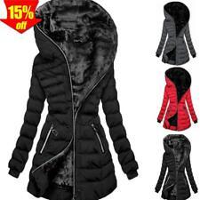 Damen Winterjacke Steppjacke Winter Jacke lang Stepp warm Teddyfell Übergangs