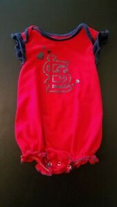 St. Louis Cardinals MLB Baby Girl's One Piece Bodysuit Size 3-6 Months Red EUC