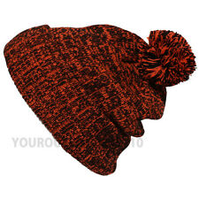 Pom Pom Baggy Knit Beanie Men's Women's Winter Hat Ski Fashion Ski Cap New