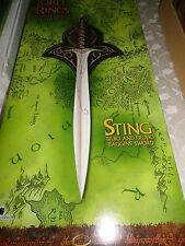 LOTR-United Cutlery-STING SWORD 1264 & SCABBARD/SHEATH SUEDE UC1300 Frodo