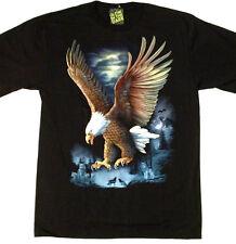 "Bald Eagle Landing ""Glow in the Dark"" TEE SHIRT 2 FACES X Large 46-48 Tee TN011"