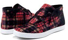 Volcom ART SHOW Womens Fashion Shoes 7 US Black Red Plaid NEW