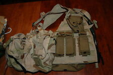 desert  MOLLE vest camo military eagle USGI FLC  w/pouches 9MM  large dump butt