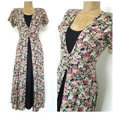 Vintage 80s Nostalgia BOHO Dress Size Small Rockstar Grunge Hippie Floral Full