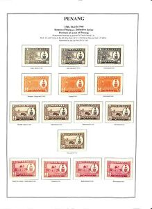 [OP2914] Malaysia lot of stamps on 9 pages