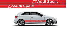 Fasce adesive Audi Sport A3 logo stemma strisce fiancate laterali rosse stickers
