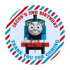 15x PERSONALISED THOMAS THE TANK ENGINE 50mm ROUND STICKERS THANK YOU SEAL GIFTS