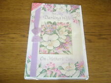 *NEW BNIP* Happy Mother's Day Greeting Card - For My Darling Wife On - flowers