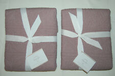 NEW POTTERY BARN Hanna euro sham quail color set of 2 NIP