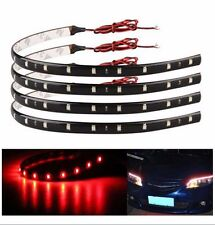 Universal Wireless Remote Control Car Motorcycle 4 Pcs Red LED Light Decoration