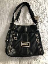 Black Leather Silver Accents  Franco Sarto Crossbody handbag