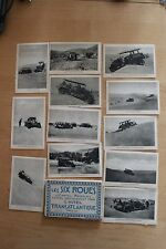 12 Anciennes Cartes postales CPA 6 roues dans dunes hotel Transatique colonial
