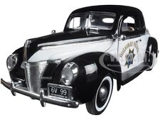 1940 FORD COUPE CALIFORNIA HIGHWAY PATROL CHP 1/18 DIECAST CAR BY MOTORMAX 73108