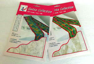 2 x ARTY's GUTTA COLLECTION 100% Silk Painting CHRISTMAS TABLE RIBBON RUNNERS