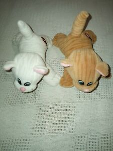 Lot Vintage Pound Puppies Purries Striped Tabby White Kitten Cat Plush Tonka 6""