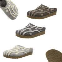 Haflinger Grizzly Helena House Clogs Mules Wool Felt Slippers Women NEW Scuffs