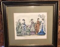 Antique Godey's Fashion Ad Framed May 1870