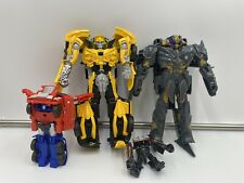 Lot of 4 Transformer The Last Knight Turbo Charger Megatron Bumblee Bee Hasbro