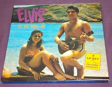 BLUE HAWAII BOX - ELVIS PRESLEY - 3 LP'S - ALBUM SET-BOOKLET - OUTTAKES - RARE