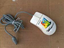Mouse PS2 Vintage Microsoft Office 2000 Due Tasti e Rotellina Con Pallina !!