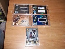 (117) 2012 Football Brian Quick Rookie Auto Patch Jersey Cards Lot Collection