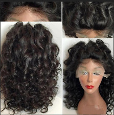Sexy Women's Black Long Wavy Lace Front Wigs Synthetic Fiber Lace Front Hair Wig