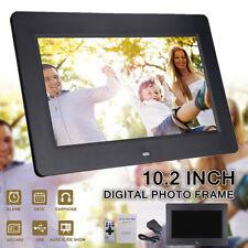 10.2'' HD Digital Photo Frame Clock Movie Music Player + Remote Control 1024x600