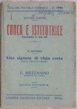 EDWIGE CARTONI CUOCA E ISTITUTRICE ANTONELLI UNA SIGNORA DI VISTA CORTA 1947