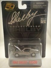 Shelby Collectibles 1967 Shelby Gt500 1:64 scale New Silver w/stripes 50 years