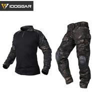 IDOGEAR Tactical G3 Uniform BDU Airsoft Combat Hunting Clothing MultiCam Black